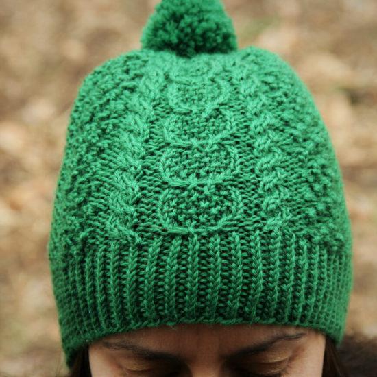 Bridget Pupillo weairng green Caiseal Hat