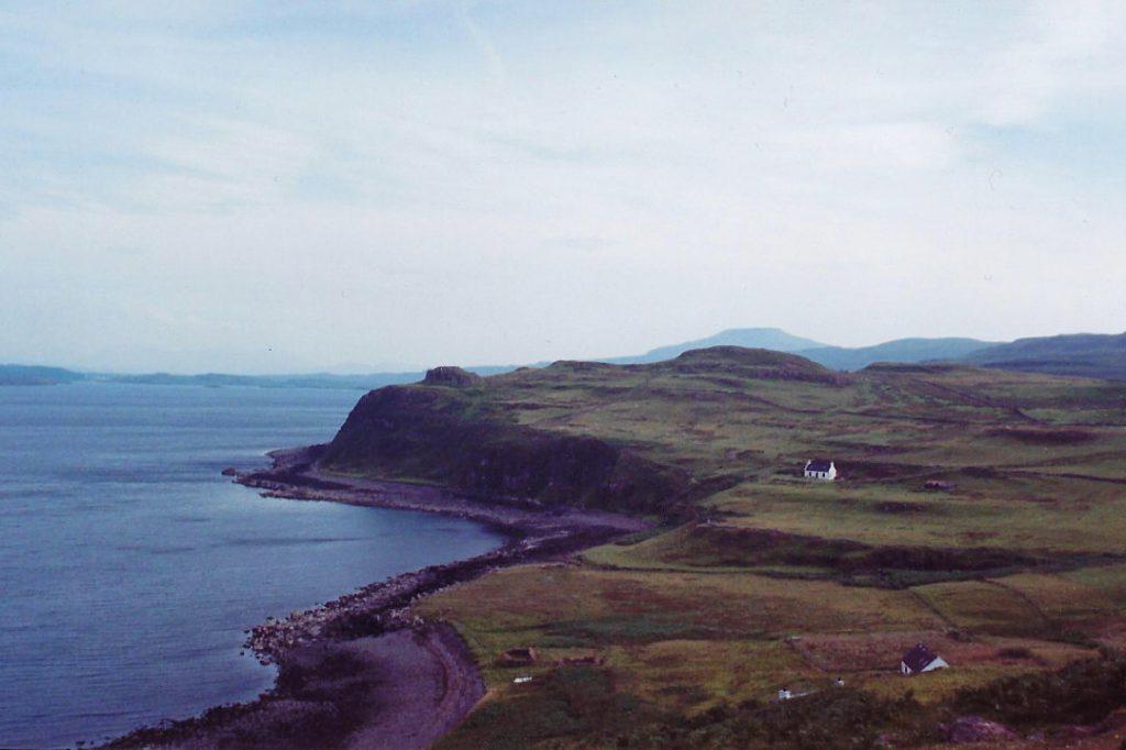view of beach in Scottish Highlands