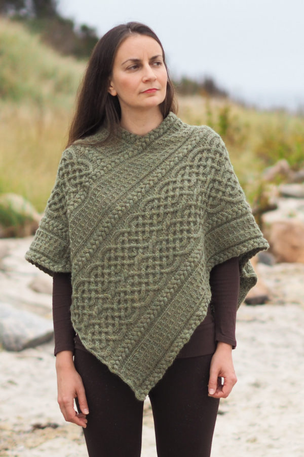 Portree Poncho knitted with Knit Picks Wool of the Andes.